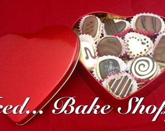 Box of Chocolates Sugar Cookies - Handmade, Decorated, Ten pieces