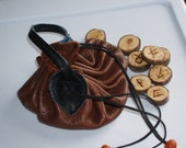 Leather Viking Coin Bag