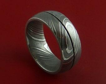 Damascus Steel Ring Wedding Band Genuine Craftsmanship Any Size