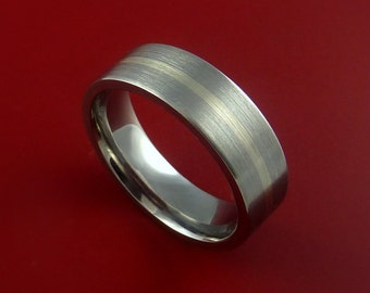 Platinum and Titanium Ring Custom Made Band Any Finish and Sizing from 3-22