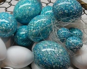 Magick Marbled  Egg Trio For Your Basket: Duck, Chicken, and Quail - Made To Order