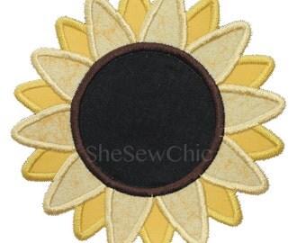 Sunflower Applique Machine Embroidery Design (00214)