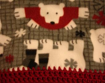 Polar Bear Fleece Throw