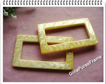 1pair purse handles bag handles / golden marble color / rectangle shape handles