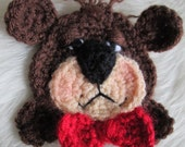 Crochet Pattern Teddy Bear Applique Embellishment by Teri Crews Wool and Whims Instant Download PDF format