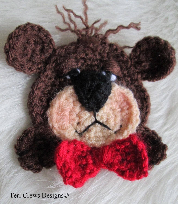 crochet pattern teddy bear applique embellishment by teri