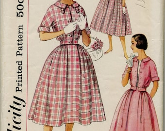 Vintage Junior and Misses' Dress and Jacket Sewing Pattern - Simplicity 2444 - Size 14 - Bust 34
