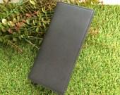 Genuine Leather Credit Cards Holder Long Wallet - Black