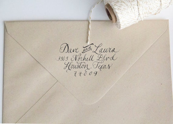 Return Address Wood Handle Rubber Stamp Featured in Many Treasuries