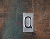vintage industrial letter  Q / metal letters / letter art
