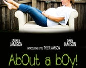 Movie Poster... Pregnancy Announcement... Gender Announcement... Custom birth announcement