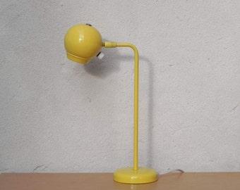 Mid Century Modern Kovacs Yellow Eyeball Desk Lamp