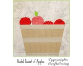 Bushel Basket of Apples Paper Pieced Pattern