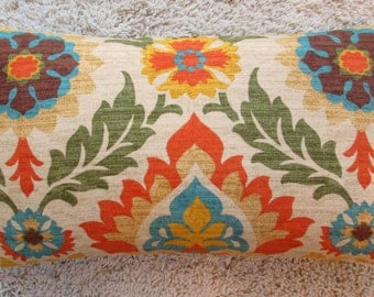 Sale  12 x 20 Pillow Cover Santa Maria Fabric Both Sides