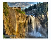 "Snoqualmie Falls, Washington, Fine Art Photograph; available in 5x7"", 8x10"", 11x14"", 13x19"", and a 5x7"" note card with envelope!"
