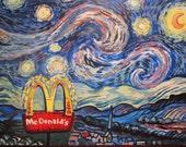 Starry Night, McDonalds greeting card