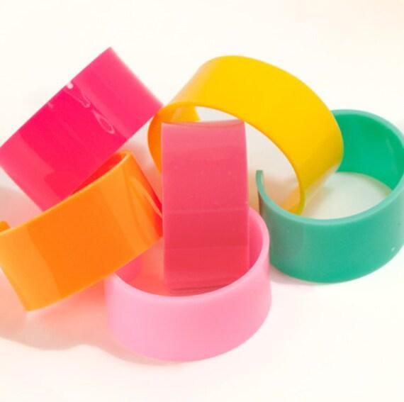 5 Acrylic Blank Bracelets Cuff U Pick Colors Diy Personalize
