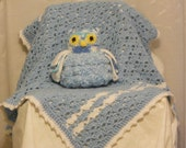 Baby Blanket with Owl Rattle