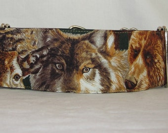 CLEARANCE Wildlife Martingale Collar - 2 Inch - wolf cougar raccoon grizzly bear moose deer animal exotic mountain forest