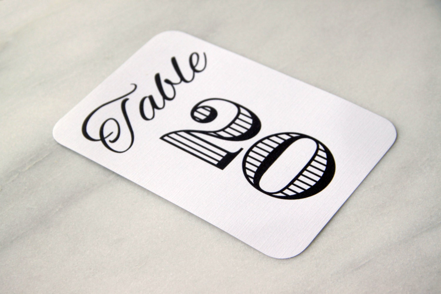 15 Wedding Reception Table Number Cards Bold Table Tents