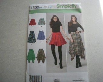 Pattern Ladies Skirts 6 Styles  Sizes 6 to 14 Simplicity 1500