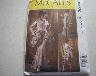 Pattern Costume Ladies Jacket Bustle Capelet Skirt Pants Sz 4 to 10 McCalls 6770