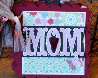 Mother's Day Scrapbook Album Mom Scrapbook Album Mother Scrapbook Album Mom Mini Album Mother's Day Gift Mother Mini Scrapbook Album