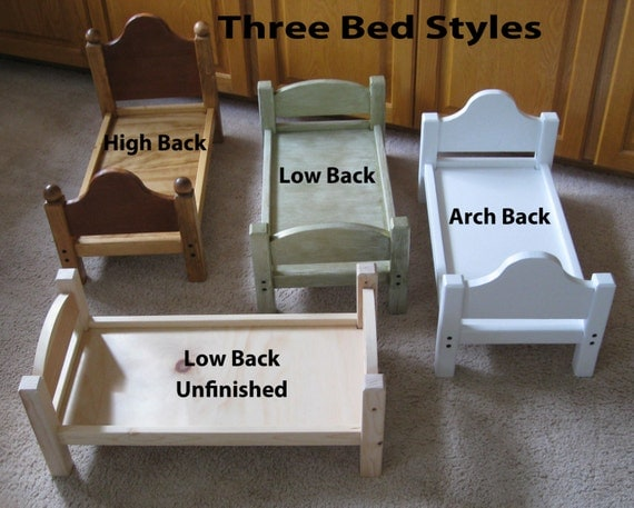 american doll bed 18 inch wood doll bed by