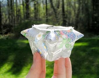 Origami Silver Vase - a delicate paper vessel