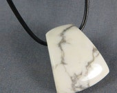 White Howlite Natural Gemstone Pendant Necklace from Mother Earth