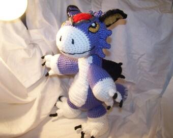 Crochet Digimon Dorumon 17 inches tall