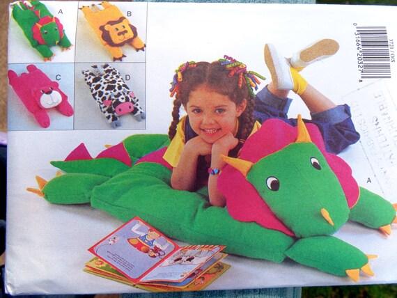 Animal Floor Pillow Covers Pattern Butterick 3721 Dinosaur
