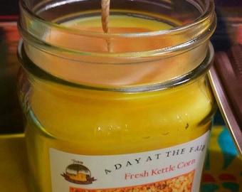 Fresh Kettle Corn 8 oz Jar Candle