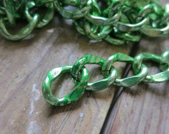 3ft Large Green Aluminum Jewelry Oval Chain 14x18mm - K1020-180008