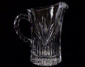 Large Lead Crystal Water Pitcher