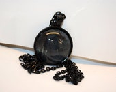 CLEARANCE - Scary Pumpkin Scarecrow Halloween Glass Pendant Necklace - Aull About You
