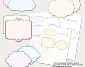 SUMMER GARDENS Printable Labels - Instant Download, Scrapbooking, Journals