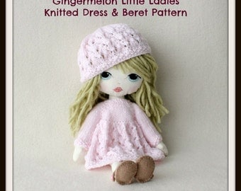 Instant Download PDF Dress & Beret Pattern for Gingermelon Little Ladies