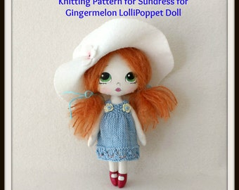 Instant Download PDF Sundress Pattern for Gingermelon LolliPoppet Dolls