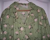 Vintage Blouse, Rose Pattern, Size 24W, by Nana's Vintage Shop on Etsy