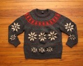 mens vintage Gant snowflake shetland sweater