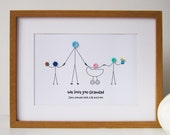 A3 Personalised Grandad Print (unframed) - Personalized - Birthday Gift for Him - Christmas Gift - Fathers Day