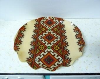 Vintage Ukrainian Folk Art FAB Tray