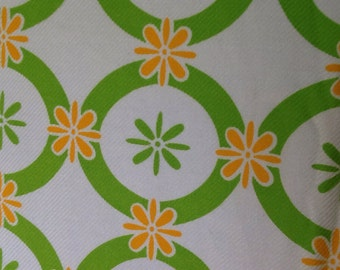 Vintage Fabric in Green and Orange