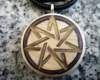33mm silver seven pointed heptagram fairy star pendant 7 pointed heptagram fairy star hand carved on a polymer clay light gold color background aloadofball Choice Image