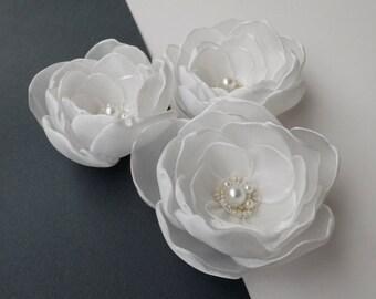 Ivory/Cream/Champagne Flowers,Weddings,Bridesmaids hair pins,Accessories,Bridal Flowers
