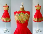 1950s Cotton Dress / The Real McCoy Dress / 50s