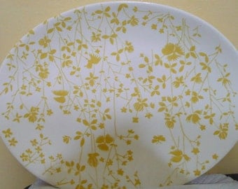 Vintage 70's Golden Meadow Meat Serving  Platter - Sheffield - Ironstone - Read Description