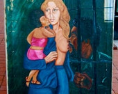 RESERVED Vintage inmate art. Oil on canvas by Maurice Henry Falls 1975. Illinois Dept of Corrections 00900-135