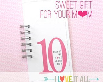 Mother's Day Birthday Gift . 10 Things Love About MOM Mama Momma Mommy Grandma Granny Nana Daddy . Coupon Book What I Love About You Card